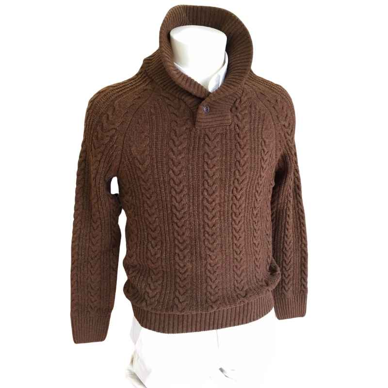 Barbour Galloway Cable Shawl Sweater
