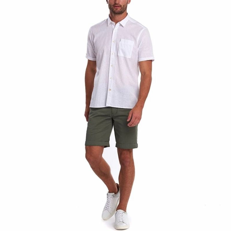 Barbour Linen Mix 1 Short Sleeved Shirt