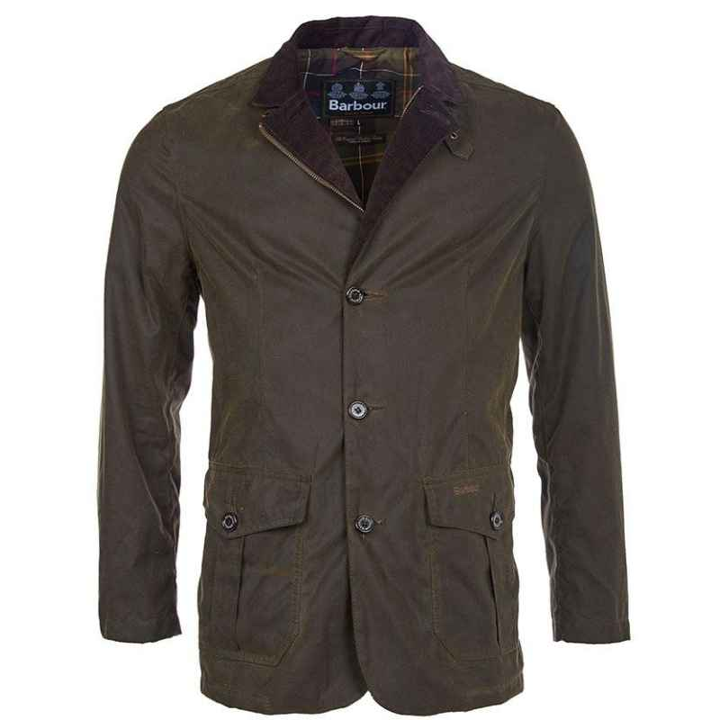Barbour Lutz Waxed Cotton Jacket