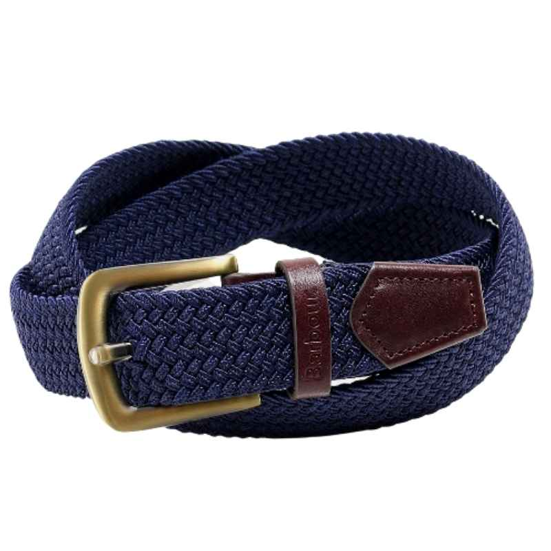 Barbour Stretch Webbing Leather Belt