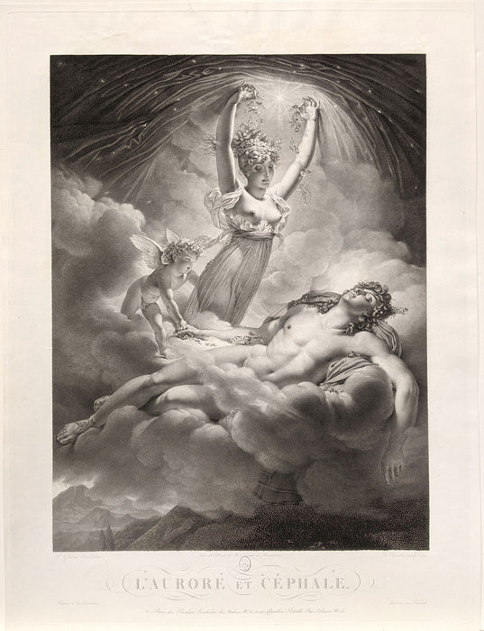 Francois Forster: Aurora and Cephalus (after PIERRE-NARCISSE GUÉRIN)