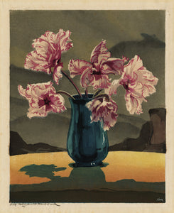 Hugo Noske: Pink and White Ruffled Tulips