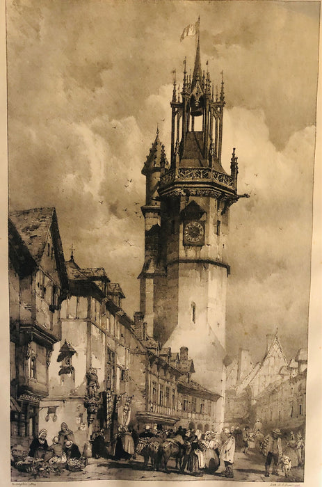 Richard Parkes Bonnington: Tour du gros horloge à Evreux (Clock Tower at Evreux)