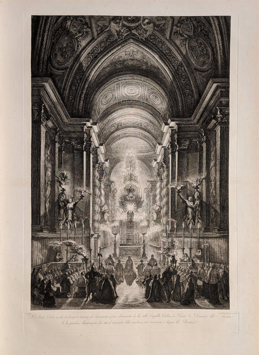 Francesco Piranesi: The Cappella Paolina in the Vatican Illuminated (after Louis-Jean Deprez)