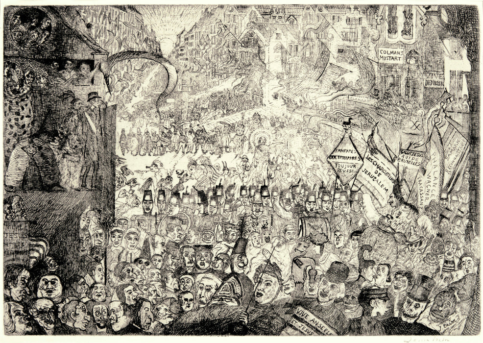 james Ensor: L'Entre du Christ Bruxelles (The Entry of Christ into Brussels)