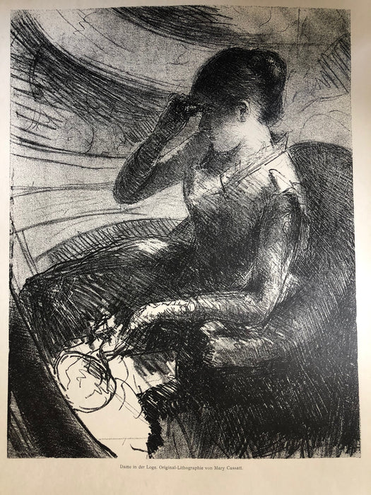 Mary Cassatt: Woman Seated in a Loge