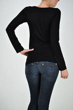 Load image into Gallery viewer, Long Sleeve Round Neck Top