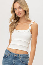 Load image into Gallery viewer, Cropped Tank With Ruffled Hem