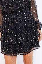 Load image into Gallery viewer, Black Gold Star Skirt