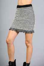 Load image into Gallery viewer, Ribbed Tweed Knit Mini Skirt