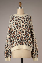 Load image into Gallery viewer, Fuzzy Leopard Pullover Sweater