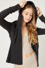 Load image into Gallery viewer, Black Long Sleeve Jacket with Full Zip