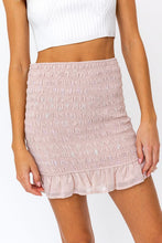 Load image into Gallery viewer, Smocked Ruffle Mini Skirt
