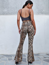 Load image into Gallery viewer, Snake Skin Print Flare Pants