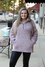 Load image into Gallery viewer, Maroon & White Fleece Pullover Plus Size