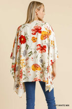 Load image into Gallery viewer, Open Front Floral Print Kimono with Slide Slit