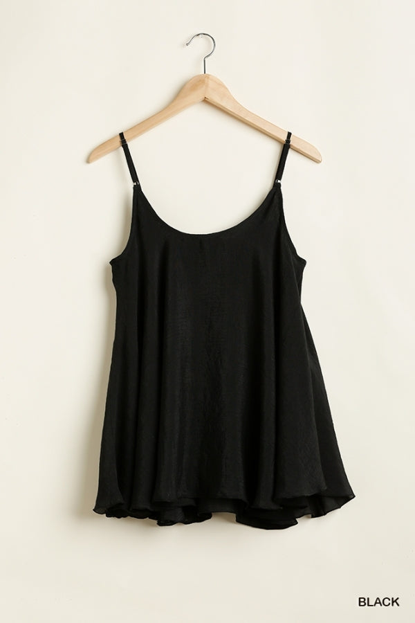 Sleeveless Top with Flowy Silhouette