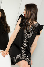 Load image into Gallery viewer, Embroidered Rib Knit Dress
