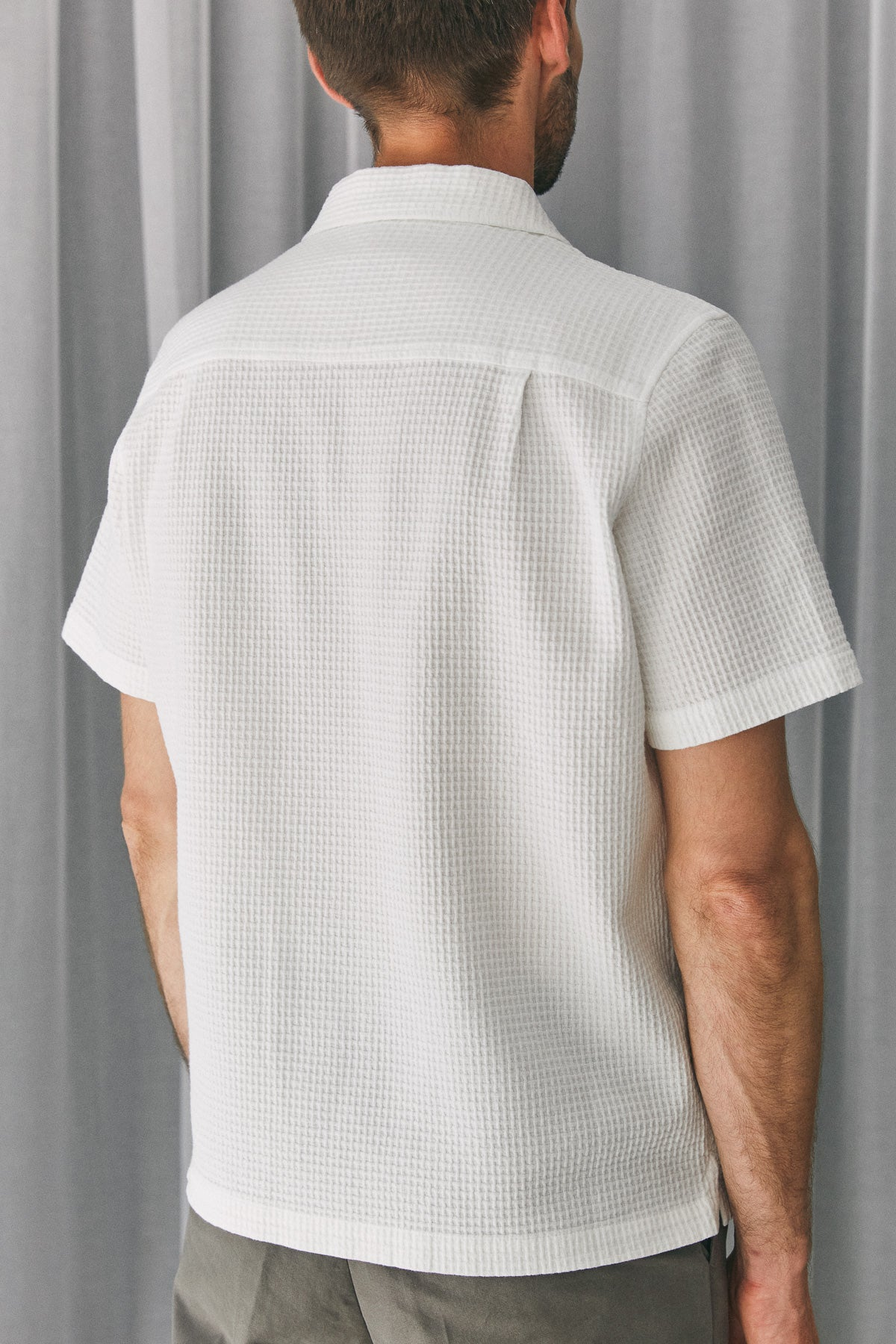 KUNO shortsleeve shirt eco crepe white