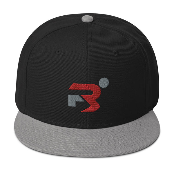 R3 Black & Grey Snapback Hat