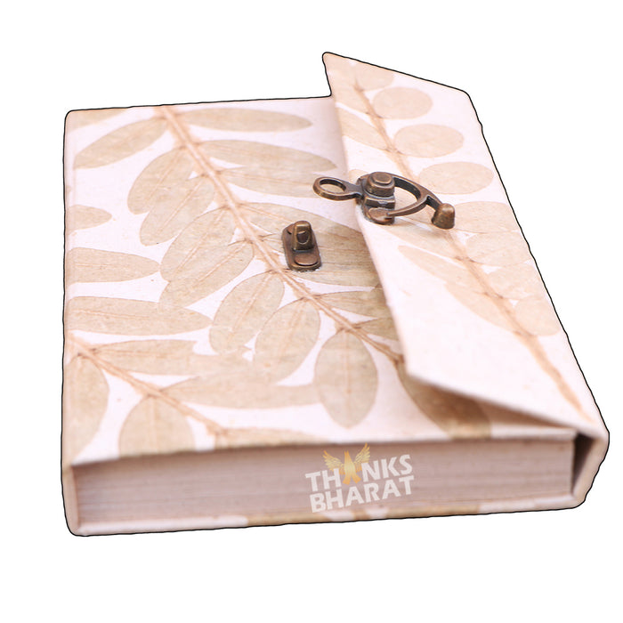 Premium lock diary made from cow dung