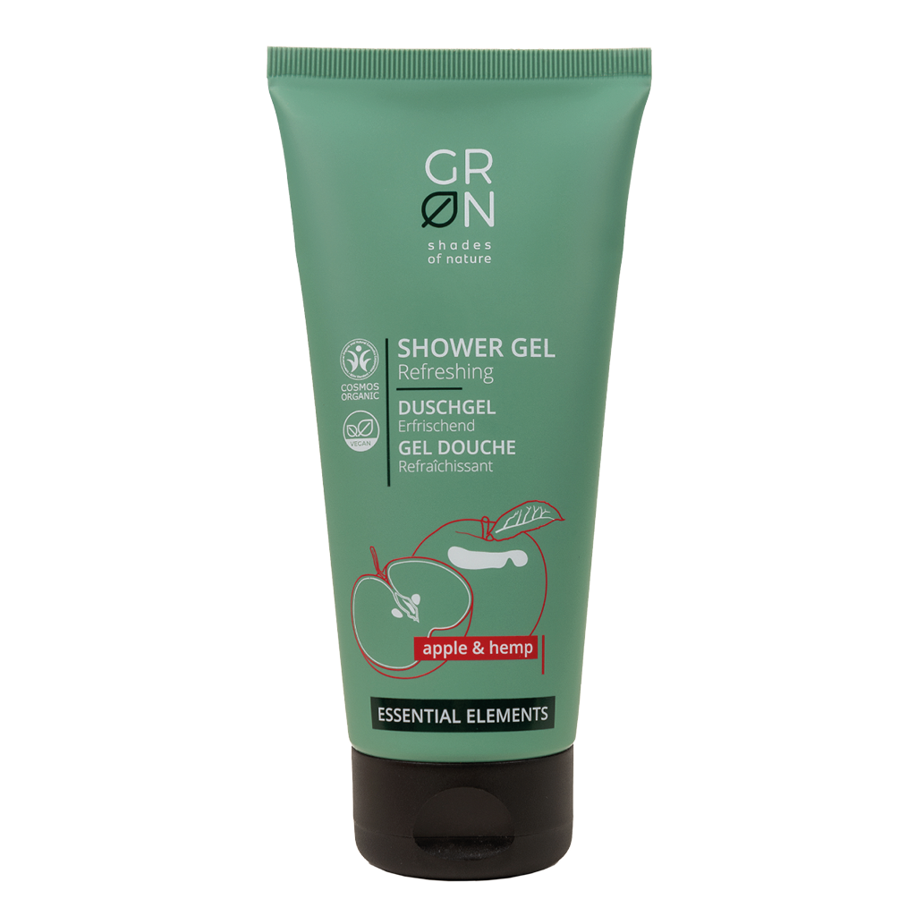 GRN Essential Elements - Shower Gel Apple & Hemp 200ml