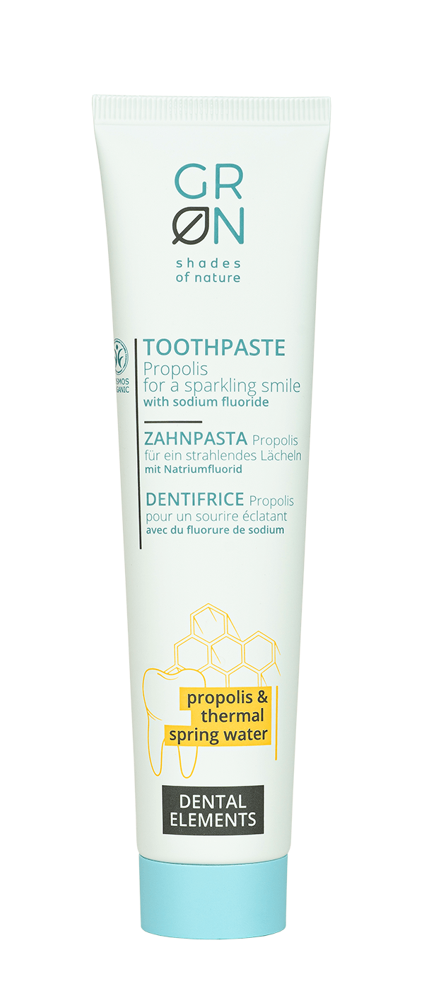 Toothpaste Propolis w/Thermal water, with fluoride 75ml - Dent Elements