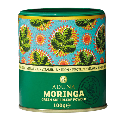 Aduna Moringa Powder - Organic Green Boost 100g