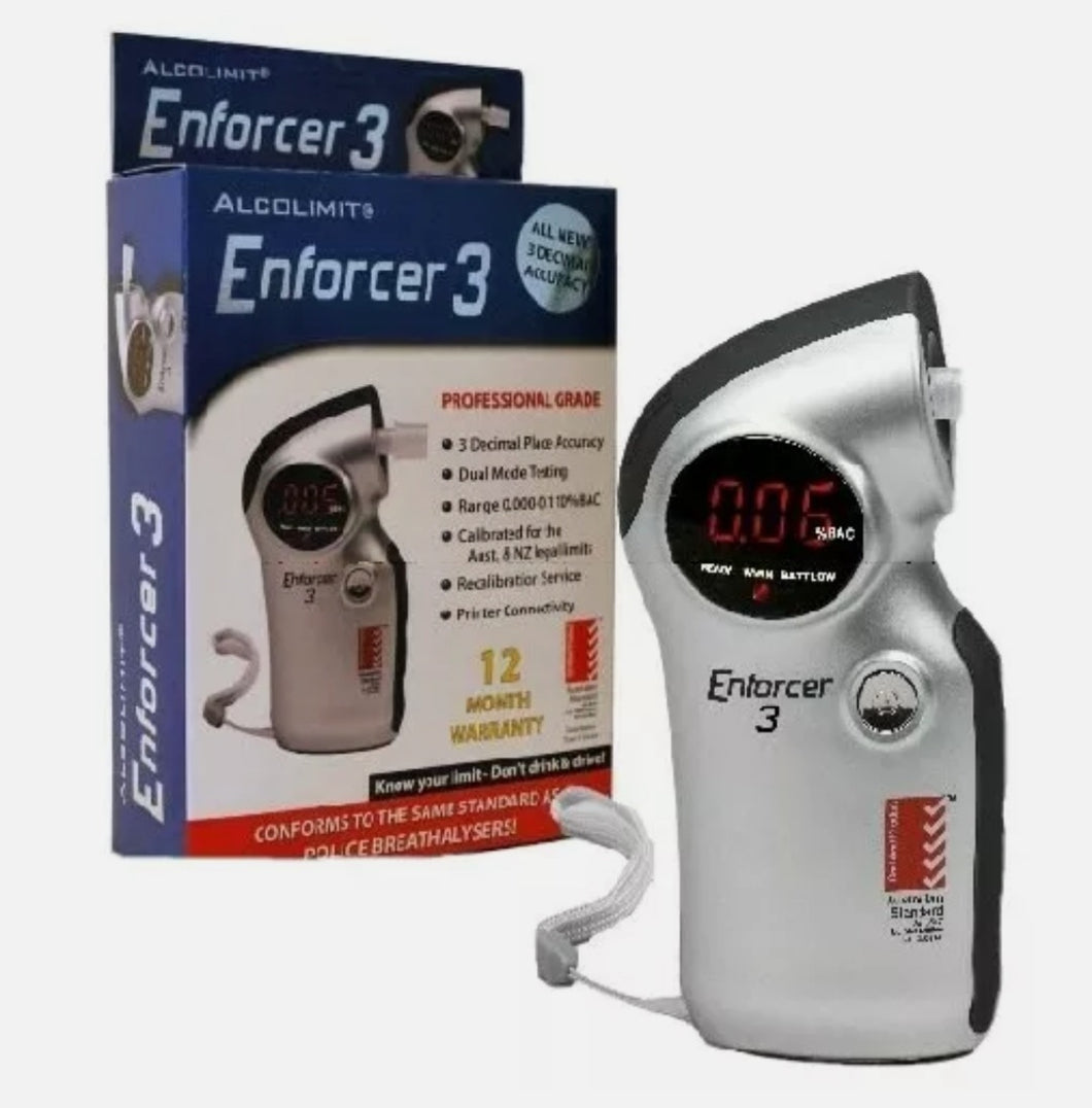 Breathalyser AlcoLimit Enforcer 3  Great for Safer Drivers - Stay Under the Limit