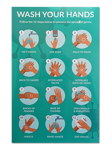 Wash Your Hands Sign - 800 x 600mm - Aluminium Composite