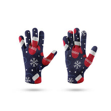 Load image into Gallery viewer, Red Xmas Ski Glove Thicken Women Men Warm Stretch Knit Mittens Non-Slip Elastic Compression Gloves Chic Christmas Gift Luvas