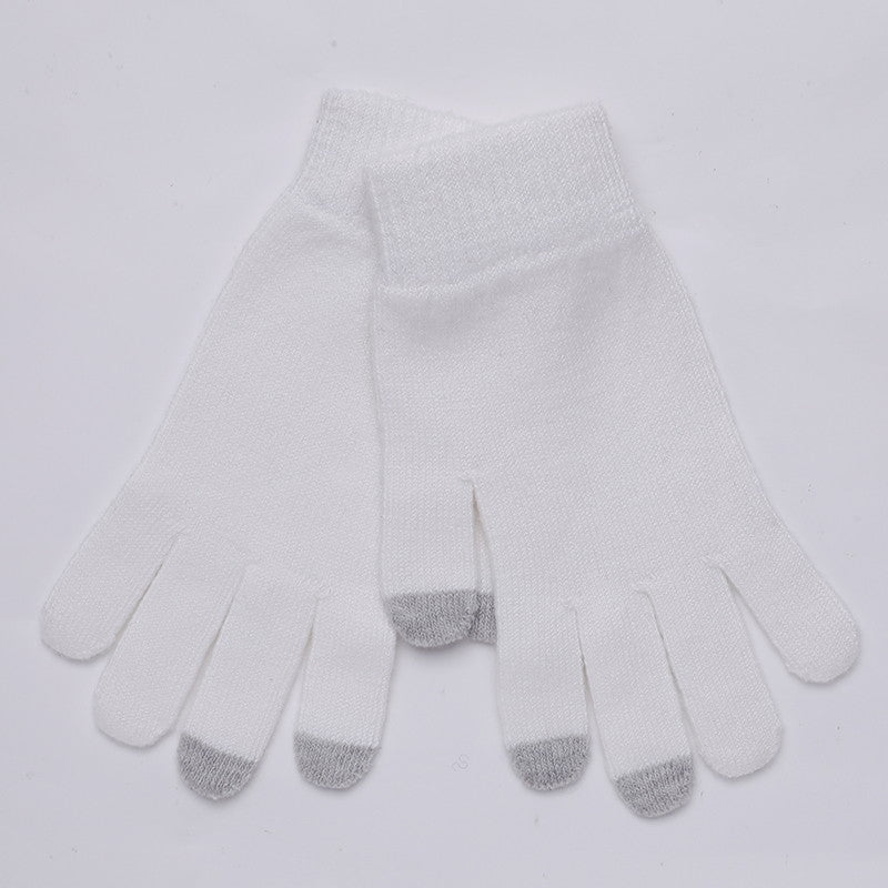 Winter Wool Telefingers Gloves Knitting Keep Warm Gloves Outdoor Skidproof Fitness Gloves 2019 Warm Female Lovely Sport Gloves