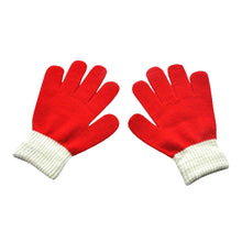 Load image into Gallery viewer, Suit For Over 12 Years Children Kids Magic Winter Gloves Colorblock Full Finger Warm Knitted Gloves Перчатки Хлопковые