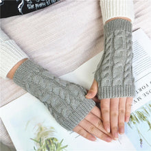 Load image into Gallery viewer, 2020 Women Winter Gloves Stylish Hand Warmer Gloves Arm Crochet Knitting Faux Wool Mitten Warm Comfortable Fingerless Lady Glove