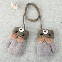 Load image into Gallery viewer, 0-3 Y Cute Cartoon Bear Baby Gloves Winter Knitted Wool Infants Mittens Thicke Warm Full Rope Gloves For Boys Girls Toddlers