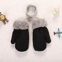 Load image into Gallery viewer, 6Types Baby Autumn Winter Knitted Warm Gloves Girls Boys Infants Patchwork Outdoor Mittens Wool Gloves Winter Gloves Accessories