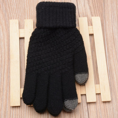 Women Men Knit Wool Gloves Man Women Winter Keep Warm Mittens Touch Screen Warm Knitted Gloves White Gray Black Mittens 2020