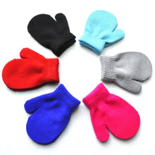 Load image into Gallery viewer, Warmom Candy solid Color Knitted Baby Gloves Winter Knit Wool Mittens acrylic Children's Kids Keep Finger Warm For 1-4Y