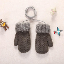 Load image into Gallery viewer, Winter Baby Boys Girls Knitted Gloves Warm Rope Full Finger Mittens Gloves For Children Toddler Kids Accessories Winter Gloves