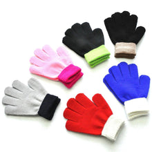 Load image into Gallery viewer, #30 Children Kids Magic Winter Gloves Colorblock Full Finger Fashion Cartoon Cute Warm Knitted Gloves Перчатки Нагрудники
