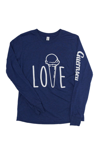 "Kids ""Love"" Long Sleeve Triblend Tee"