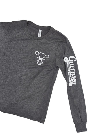 "Kids ""Cow"" Long Sleeve Triblend Tee"