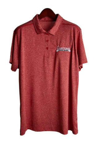 Guernsey golf shirt - red