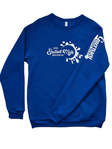 Spilled Milk Blue Crew Sweatshirt