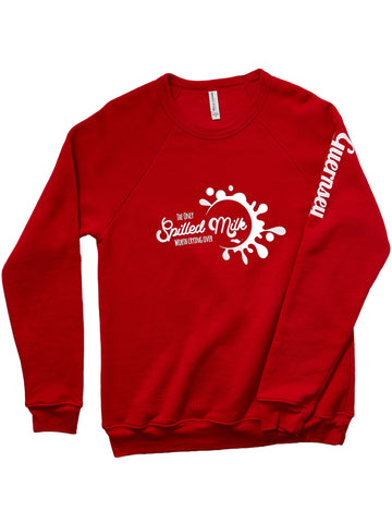 Spilled Milk Red Crew Sweatshirt
