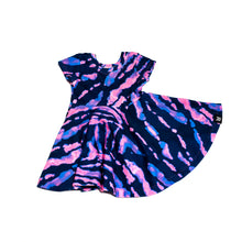 Load image into Gallery viewer, PURR-PLE Tie Dye Baby and Girl's Dress