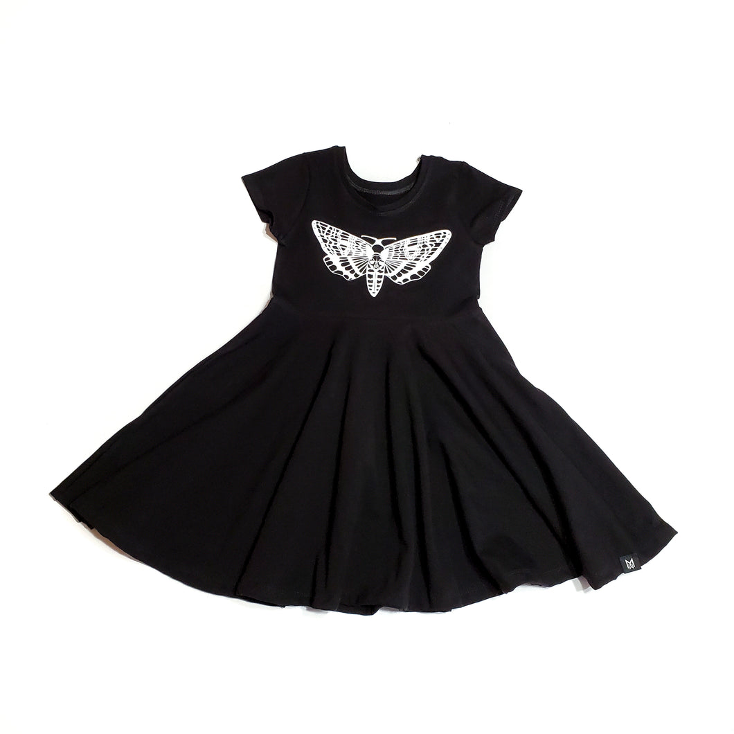Death's Sphynx Head Moth Baby and Girl's Dress