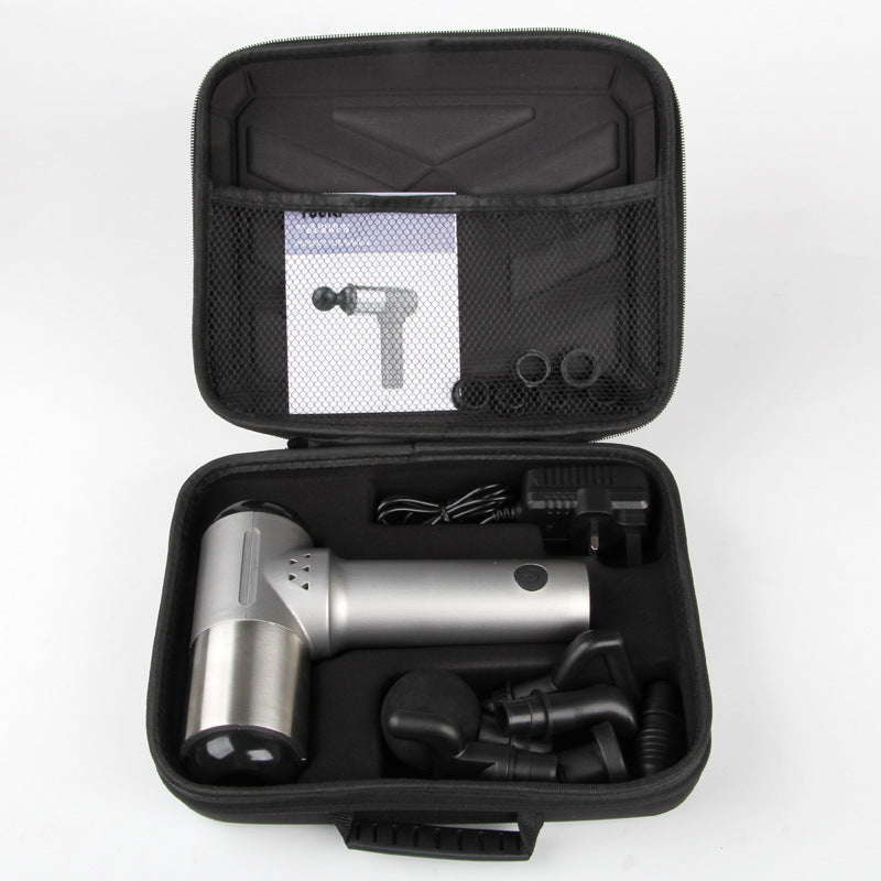 Massage gun with LCD Display, 30 Speed Levels With 6 Changeable Heads-T1