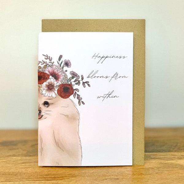 Happiness blooms from within | Card