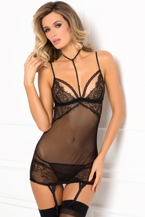 Midnight Company Chemise Set  - Small/ Medium - Black RR-512158-BLKSM